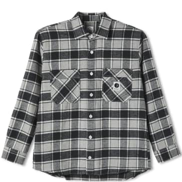 Polar Skate Co Flannel Shirt - Black / Grey / White