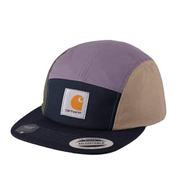 Carhartt WIP Valiant 4 Cap - Dark Navy / Provence / Leather
