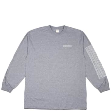 Studio Skateboards Sport Block Long Sleeve T-Shirt - Heather Grey