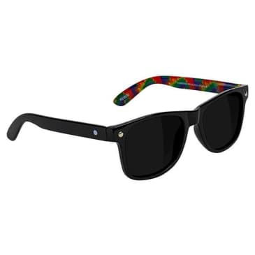 Glassy - Leonard Polarized Sunglasses - Black/Tie-Dye
