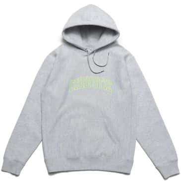 Chrystie NYC Collegiate Logo Pullover Hoodie - Heather Grey