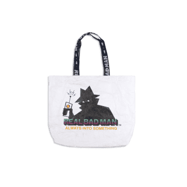 Real Bad Man A.I.S. Tyvek Tote Bag - White