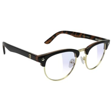 Glassy Morrison Premium Gaming Glasses - Black / Tortoise / Clear