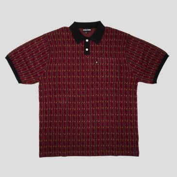 """PASS~PORT """"TILDE"""" KNITTED POLO RED"""