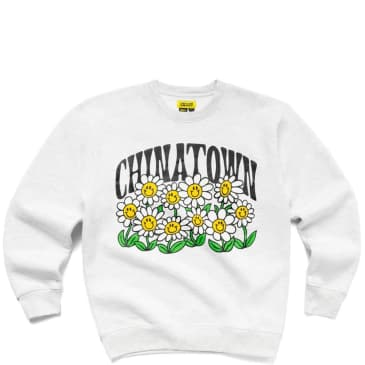 Chinatown Market Flower Power Crewneck - Ash Gray