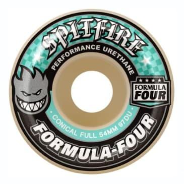 Spitfire Formula Four Conical Full Natural Wheels (97D) - (54mm)