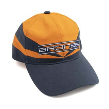 Bronze 56k Sports Snapback Hat - Orange / Navy
