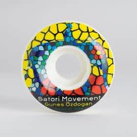 Satori Wheels - Gunes Ozodgan Stained Glass - 52.5mm - 101a - Conical Shape