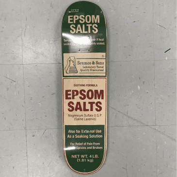Scumco and Sons Skateboards Team Epsom Salts Deck