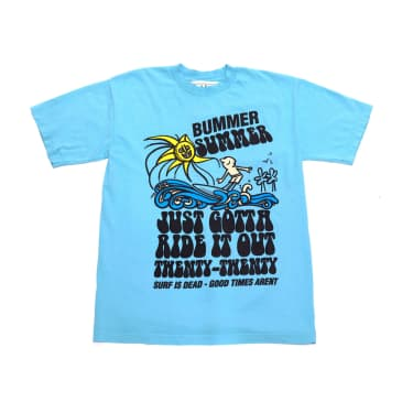 Surf Is Dead Ride It Out T-Shirt (Teal)
