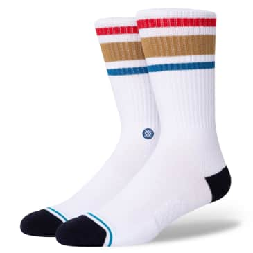 Stance Boyd Staple Socks | White / Brown
