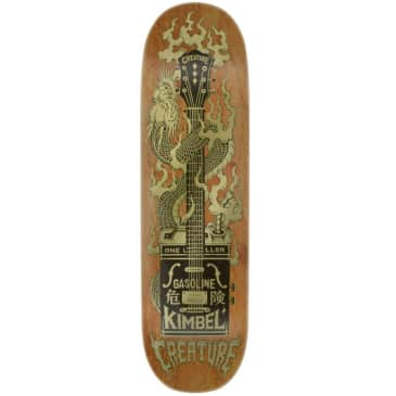 """Creature Skateboards Pro Deck Kimbel Gas Can Flame Brown 9"""""""