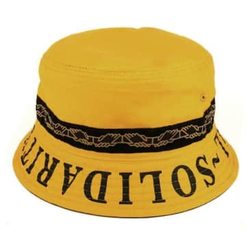 Pass~Port Inter Solid Reversible Bucket Hat - Mustard