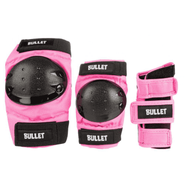 Bullet - Standard Pad Set - Junior - Pink / Black - OSFA