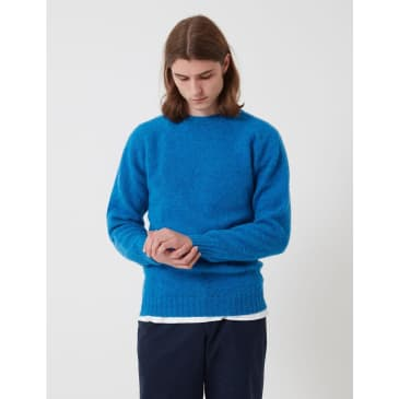 Bhode Supersoft Lambswool Jumper (Made in Scotland) - New Blue