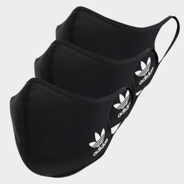 Adidas - Face Covers 3 Pack - Black