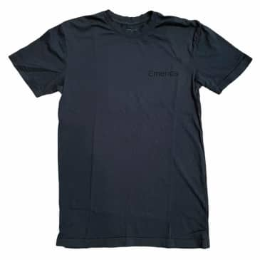 Emerica Tee Pure Logo Black Black