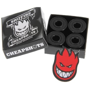 Spitfire Skateboard Bearings Black [Pack Of 8]