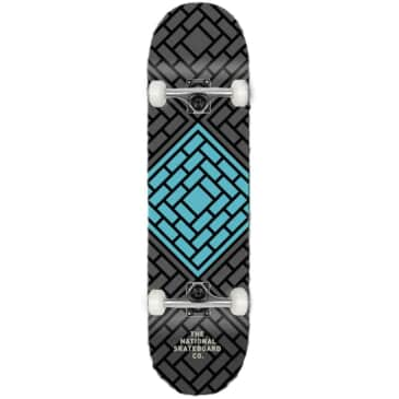 """The National Skateboard Co. - Classic Teal (Lucky Dip Stain) - Medium Concave - Complete Skateboard - 8.25"""""""