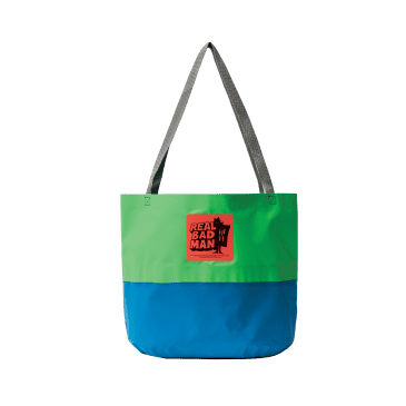 Real Bad Man Rubber Tote Bag - Green / Blue