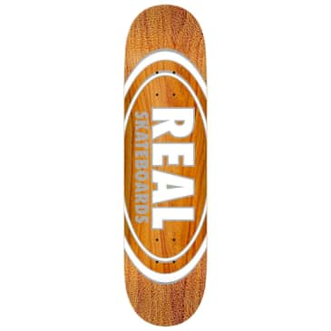 "Real Skateboards - Oval Pearl Pattern Slick Deck 8.25"" Wide"