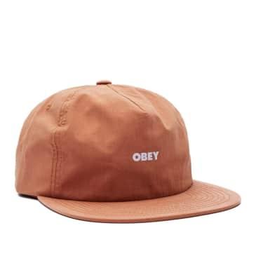 OBEY Warfield 5 Panel Hat - Gallnut