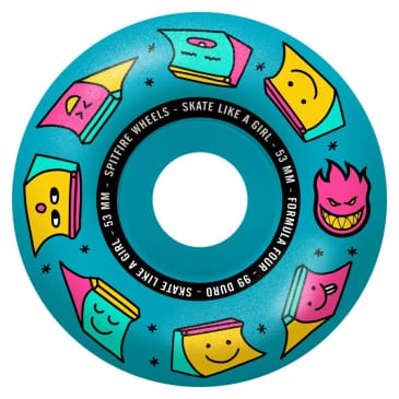 Spitfire Wheels Formula Four Sk8 Like A Girl 99d Blue 53mm