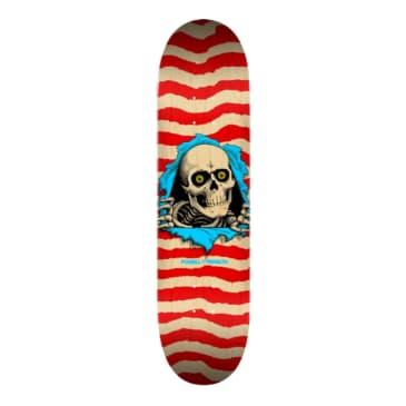 "Powell Peralta Ripper Skateboard Deck Nat/Red - Shape 244 - 8.5"""