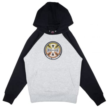 Independent Truck Co. Split Cross Youth Hoodie - Black and Grey