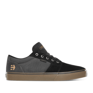 Etnies Barge LS Skate Shoes - Black / Gum / Dark Grey