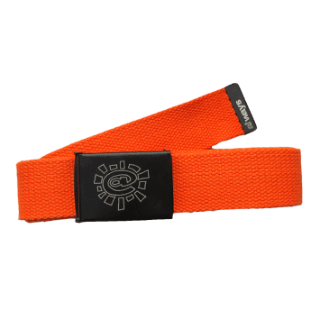 always do what you should do - orange canvas belt