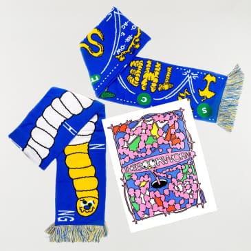 'The Bookworm' Scarf & Zine Pack