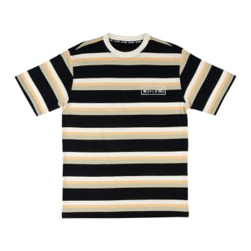 WELCOME Medius Stripe Knit Tee Black/Sand