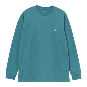 Carhartt WIP L/S Chase T-Shirt - Hydro/Gold