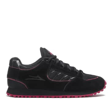 Lakai Carroll x Thrasher Suede Shoes - Black / Red