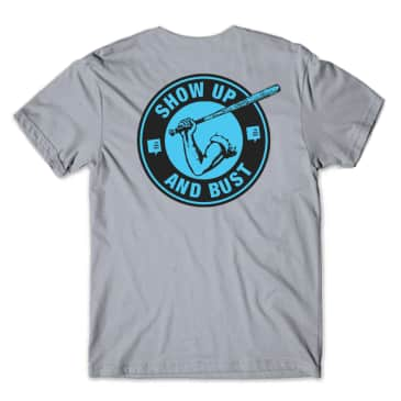 The Back Forty Show Up and Bust Tee Grey