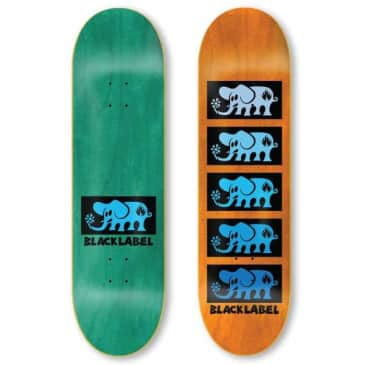 Black Label Skateboards Elephant Stacked Skateboard Deck - 8.00 (Random Colour Wood Stain)