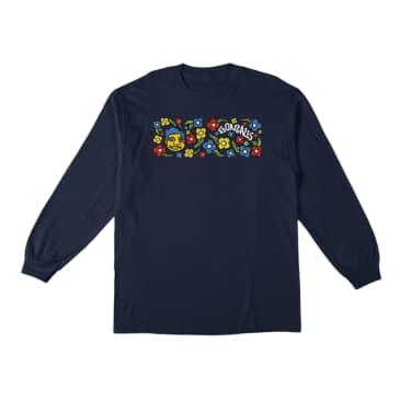 Krooked Sweatpants Long Sleeve T-Shirt Navy/Multi