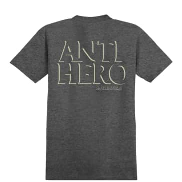 Antihero Drophero Pocket T-Shirt - Charcoal Heather / Cream