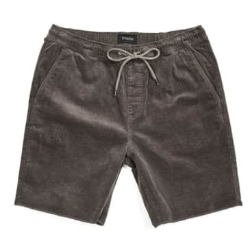 Brixton - Madrid II Shorts - Charcoal Cord