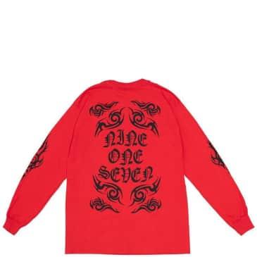 Call Me 917 Tribal Long Sleeve T-Shirt - Red