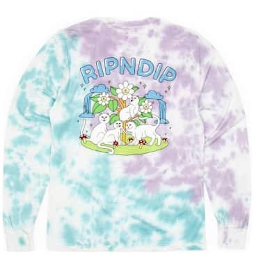 Ripndip Magical Place Tie Dye Long Sleeve T-Shirt - Lavender / Mint Dye