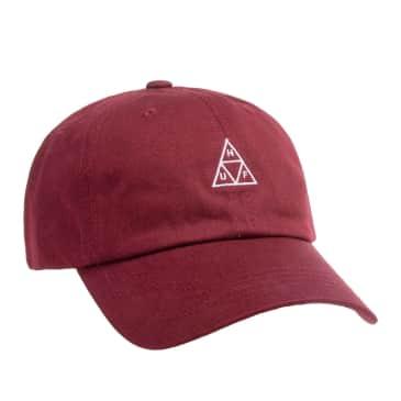 HUF Triple Triangle Curved Visor Cap - Oxblood
