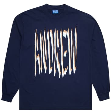 Andrew 2wo2imes Type Long Sleeve T-Shirt - Navy
