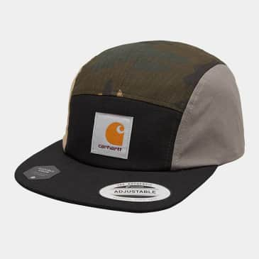 Carhartt WIP - Valiant 4 Cap - Black/CamoLaurel/AirForce