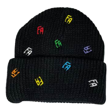 FUCKING AWESOME SCATTERED FA CUFF BEANIE - BLACK
