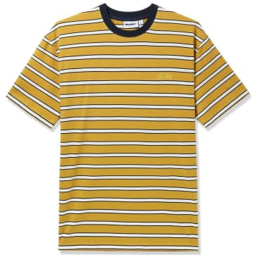 Butter Goods Beach Stripe T-Shirt - Mustard