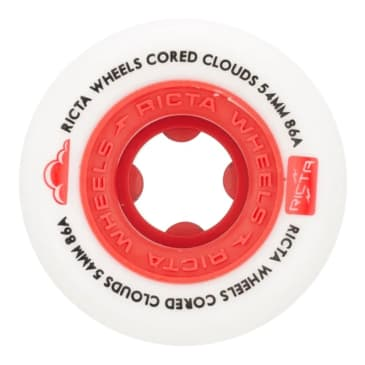 Ricta Cored Clouds Red 86a 54mm Wheels