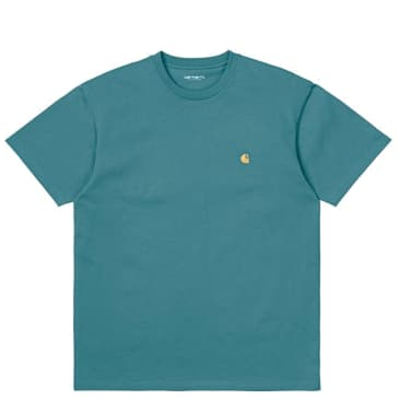 Carhartt WIP Chase T-Shirt - Hydro / Gold