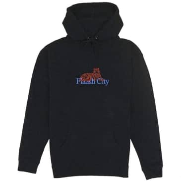 Flaash Tiger Corp Embroidered Hoodie - Black